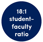 18:1 student-faculty ratio