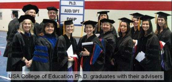 Graduates with their advisers.