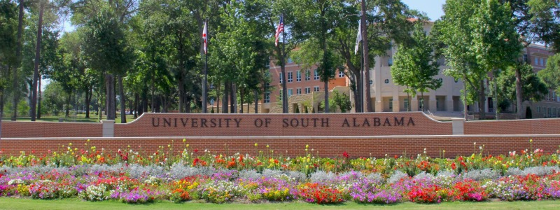 University of South Alabama Sign