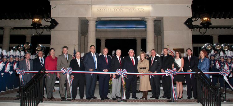 Moulton Tower dedication