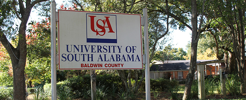 USA Baldwin County Campus sign
