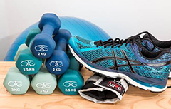 Group exercise class using exercise balls